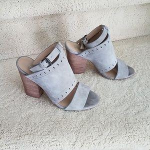 Joe's gray suede shoes